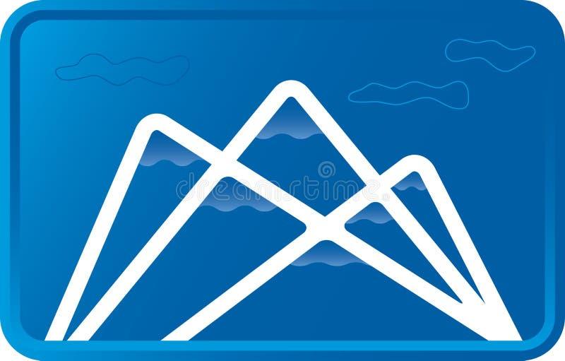 blå bergvektor stock illustrationer