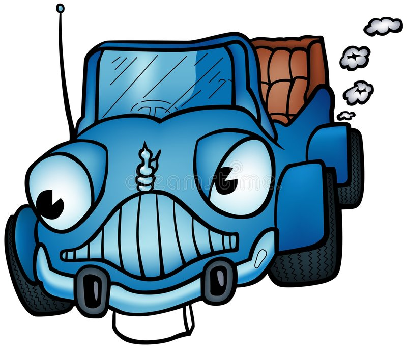 blå bil vektor illustrationer