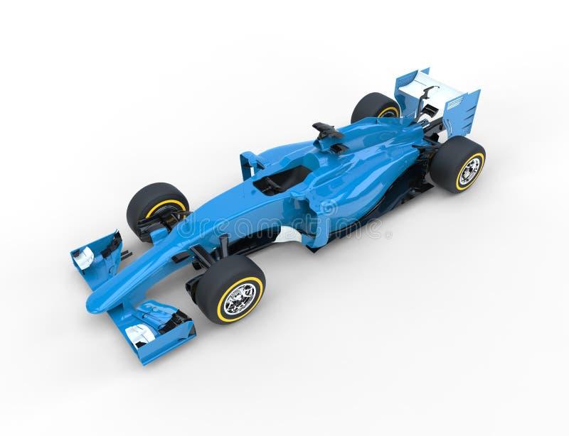 Blå bil för formel en royaltyfri illustrationer