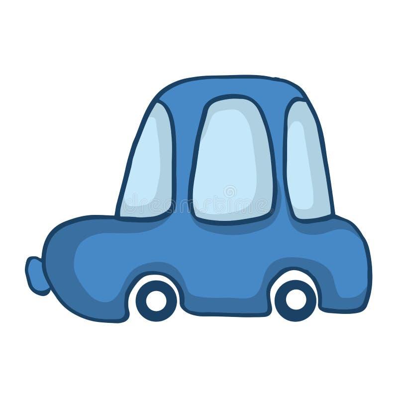 Blå bil för ungedesign vektor illustrationer
