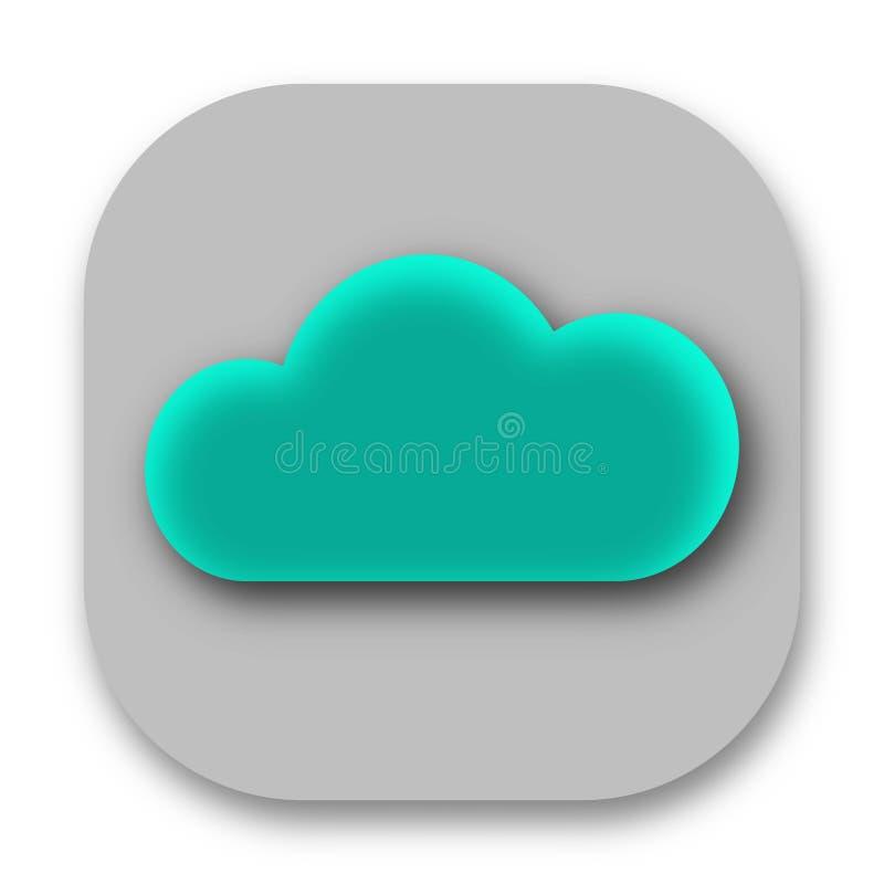 Blå bild för molnsymbolsvektor vektor illustrationer