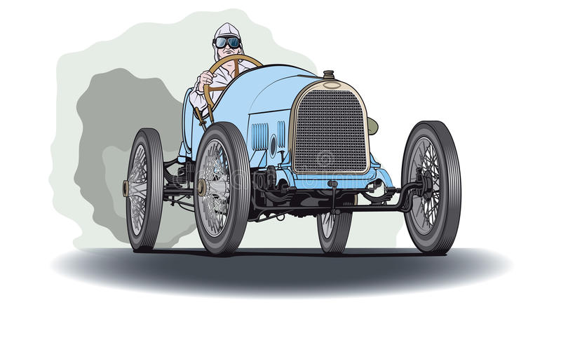 blå bilrace vektor illustrationer