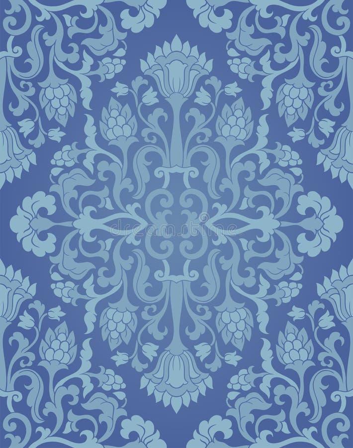 blå blom- modell vektor illustrationer