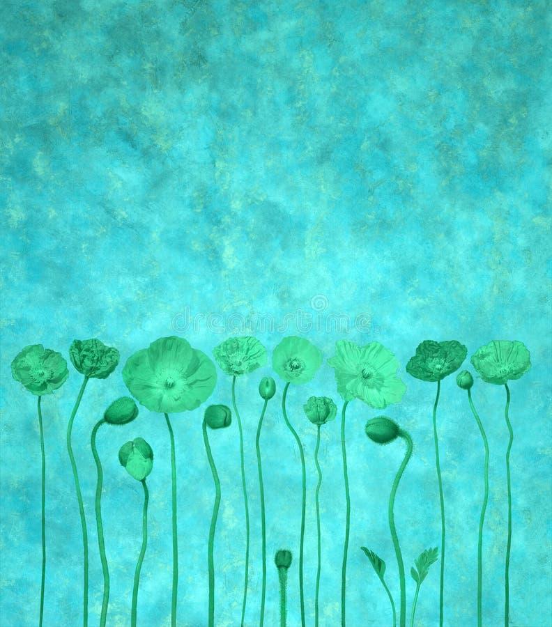 blå blomma för bakgrund stock illustrationer