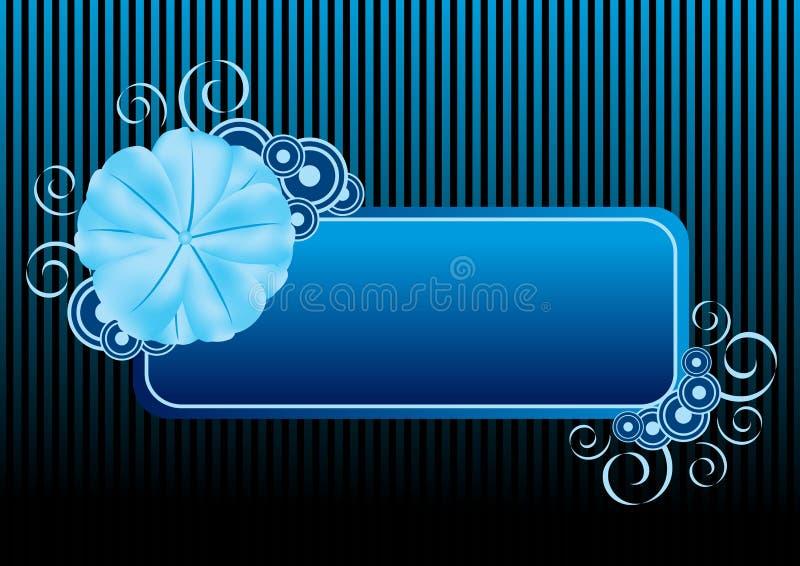blå blomma för baner royaltyfri illustrationer