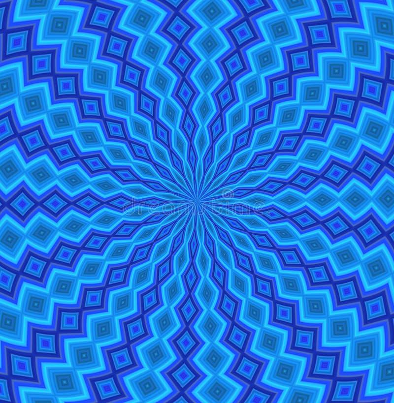 blå blommamodell royaltyfri illustrationer