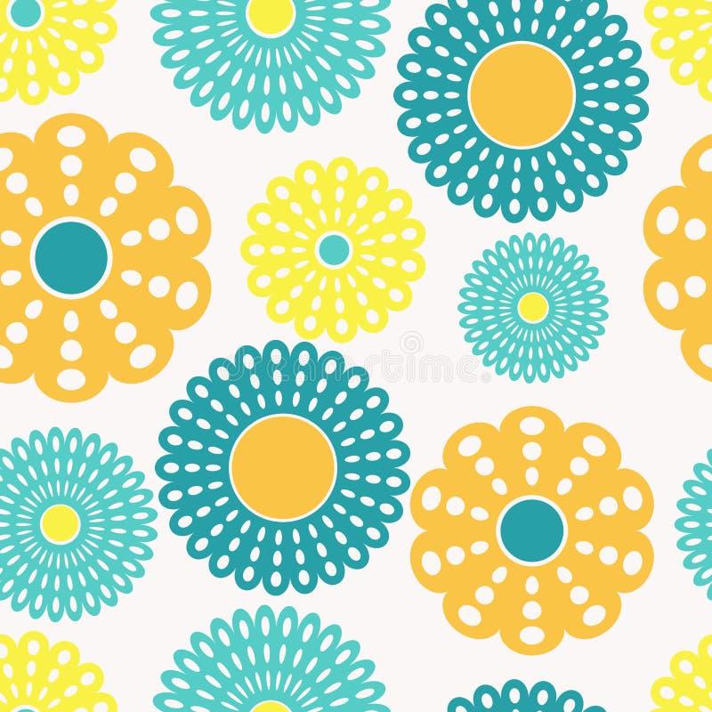 blå blommayellow royaltyfri illustrationer