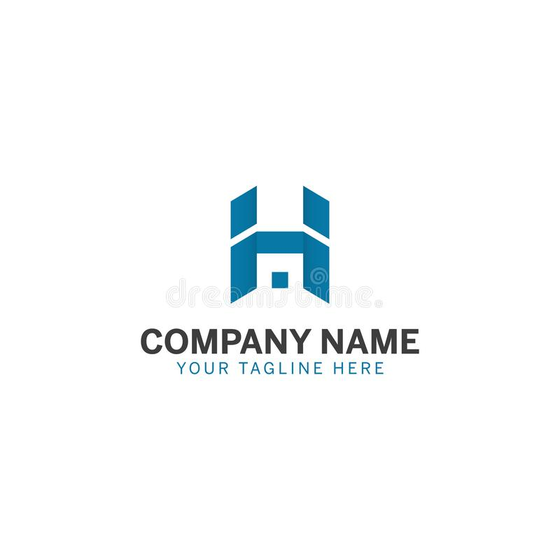 Blå bokstavsH-logo för någon affär och service stock illustrationer