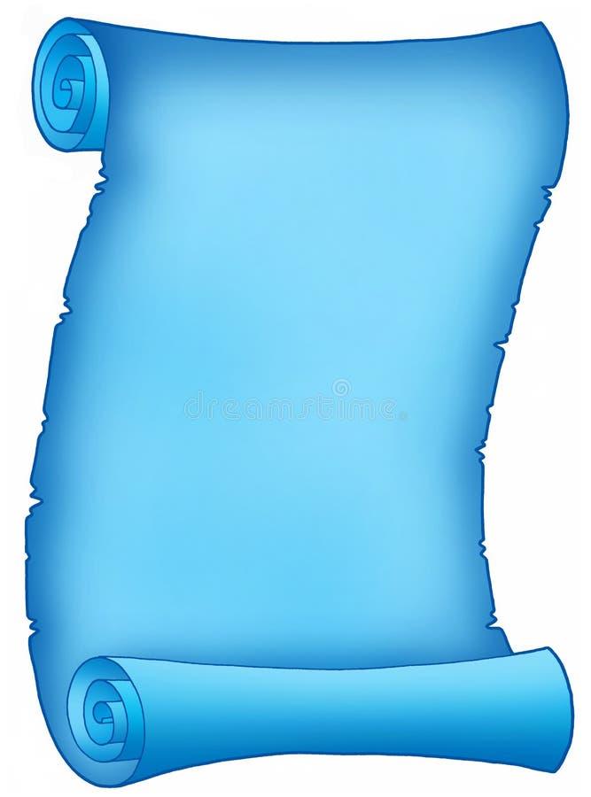 blå bokstavsparchment royaltyfri illustrationer