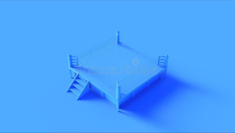 Blå boxningsring royaltyfri fotografi
