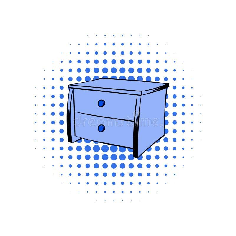 Blå bröstkorgkomikersymbol royaltyfri illustrationer