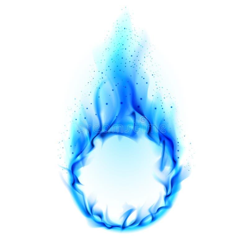 blå brandcirkel royaltyfri illustrationer