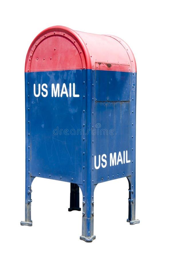 blå brevlådared arkivbilder