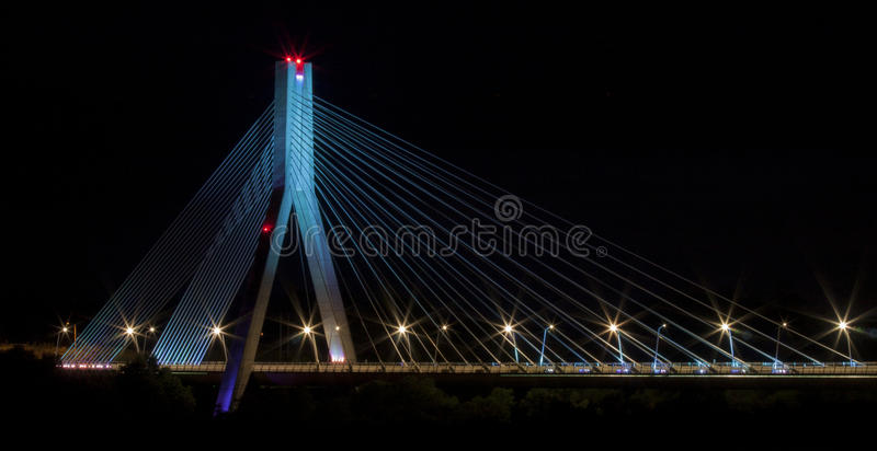 blå bro royaltyfria foton
