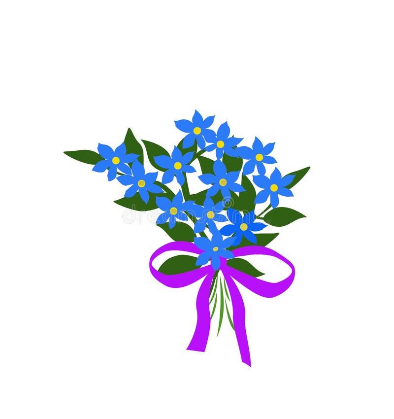 blå bukett stock illustrationer