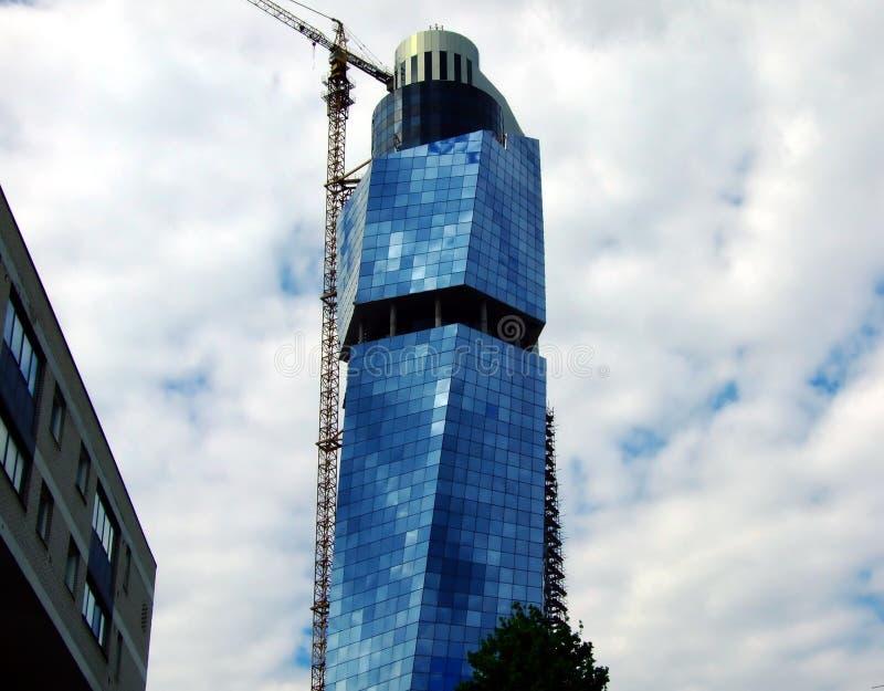 blå byggnad royaltyfri fotografi