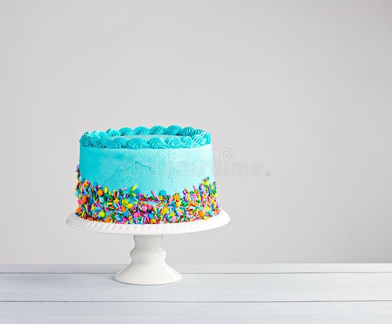 blå cake royaltyfri bild