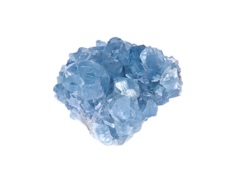 Blå celestiteklunga royaltyfri bild
