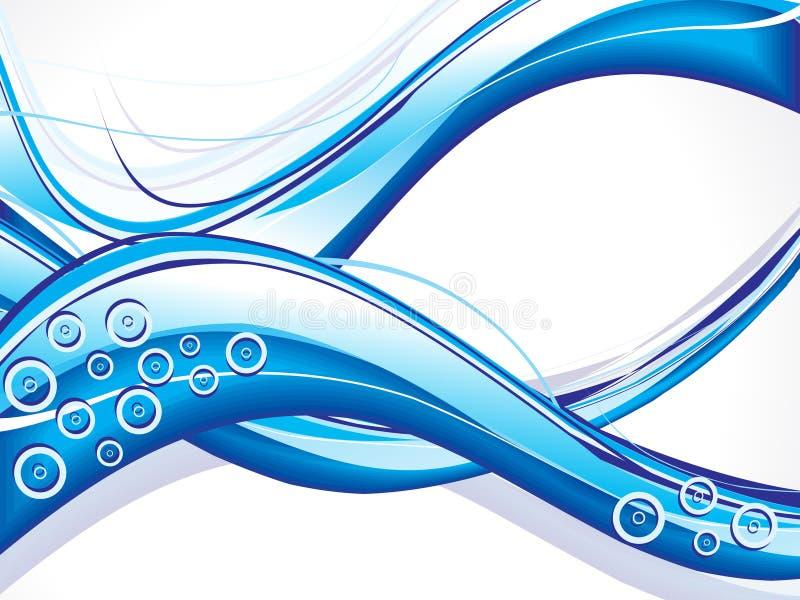 blå cirkelwave för abstrakt bakgrund stock illustrationer
