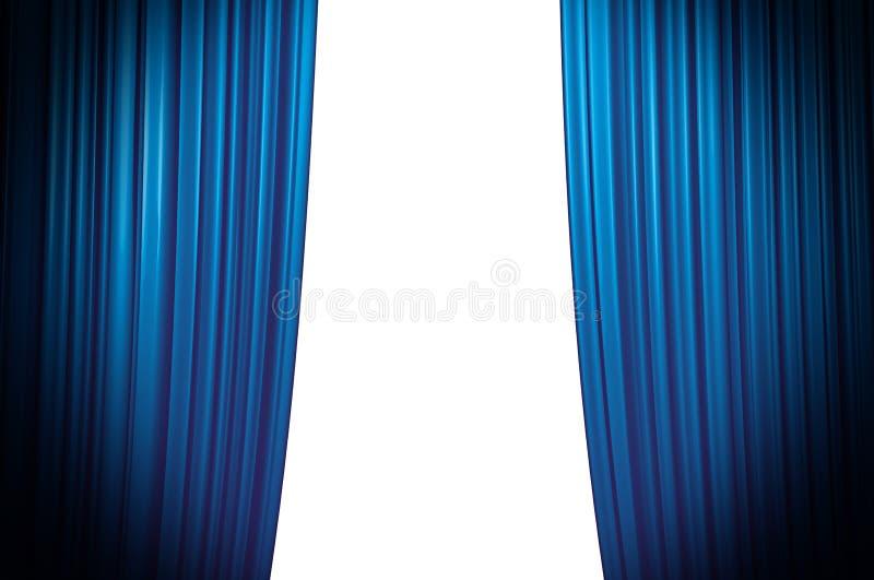 blå closinggardin arkivbilder