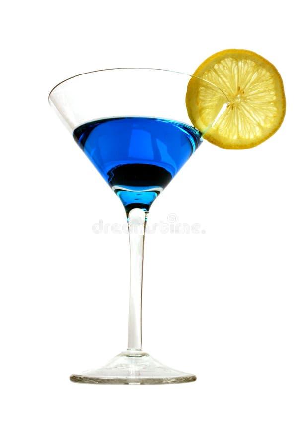 blå coctail royaltyfria bilder