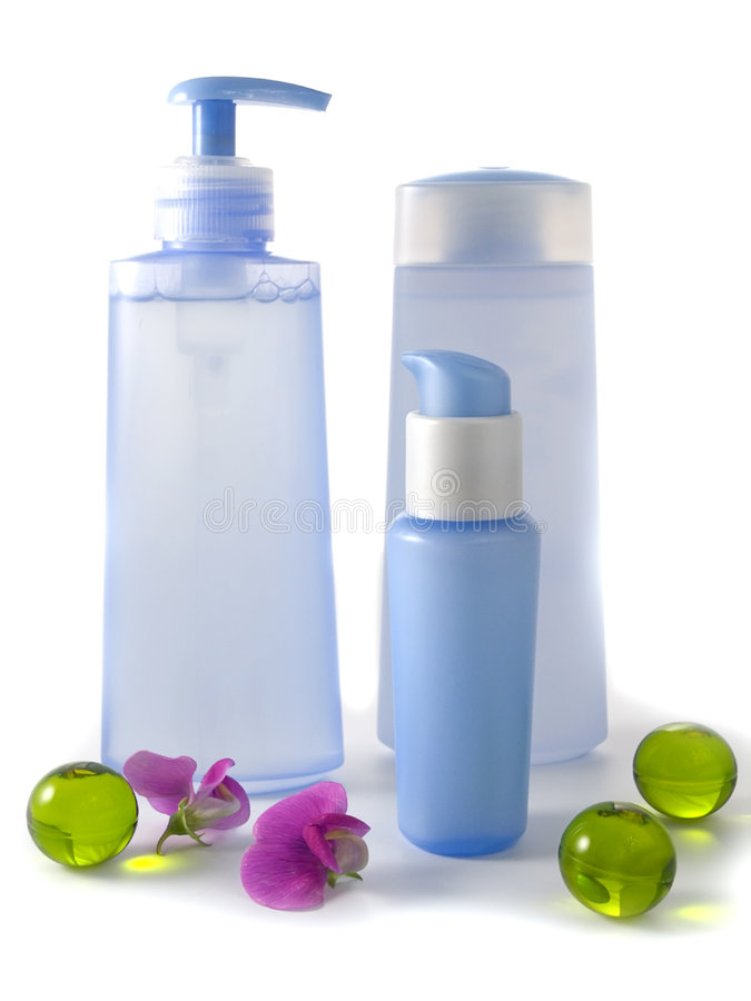 blå cosmetic royaltyfri bild