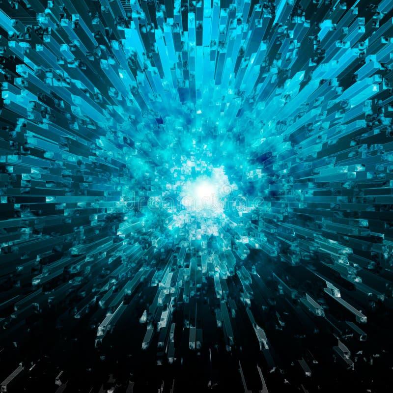 blå crystal explosion royaltyfri fotografi