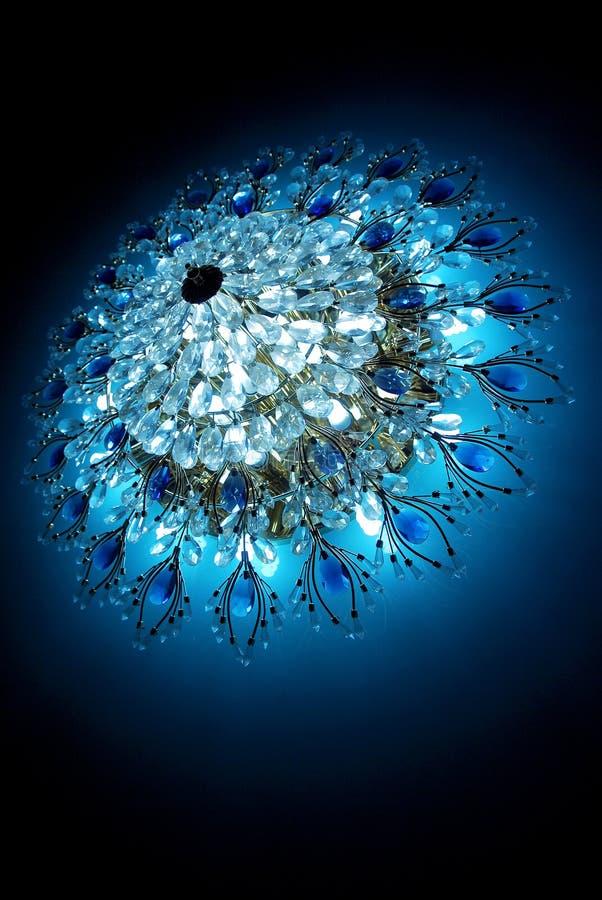 blå crystal lyster royaltyfri foto