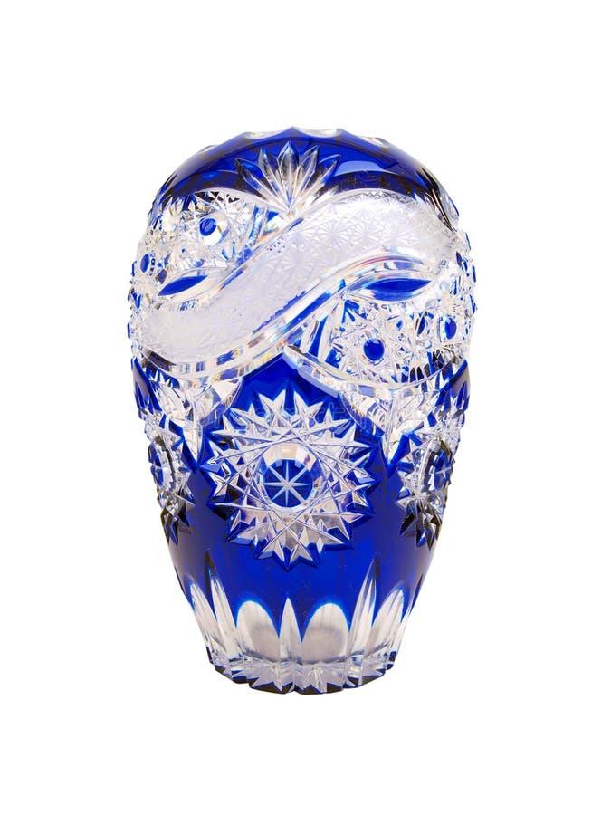 blå crystal vase royaltyfri bild