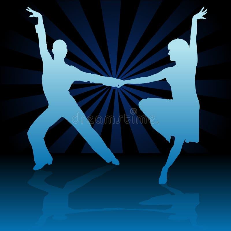 blå danslatino vektor illustrationer