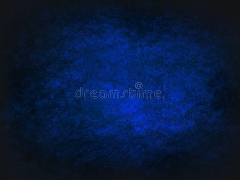 Blå darkabstrakt begreppbakgrund Tappningtextur med mörka hörn royaltyfri illustrationer