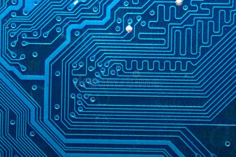 blå dator för brädeströmkretsclose upp royaltyfri fotografi