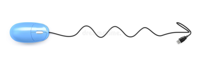 Blå datormuspil vektor illustrationer
