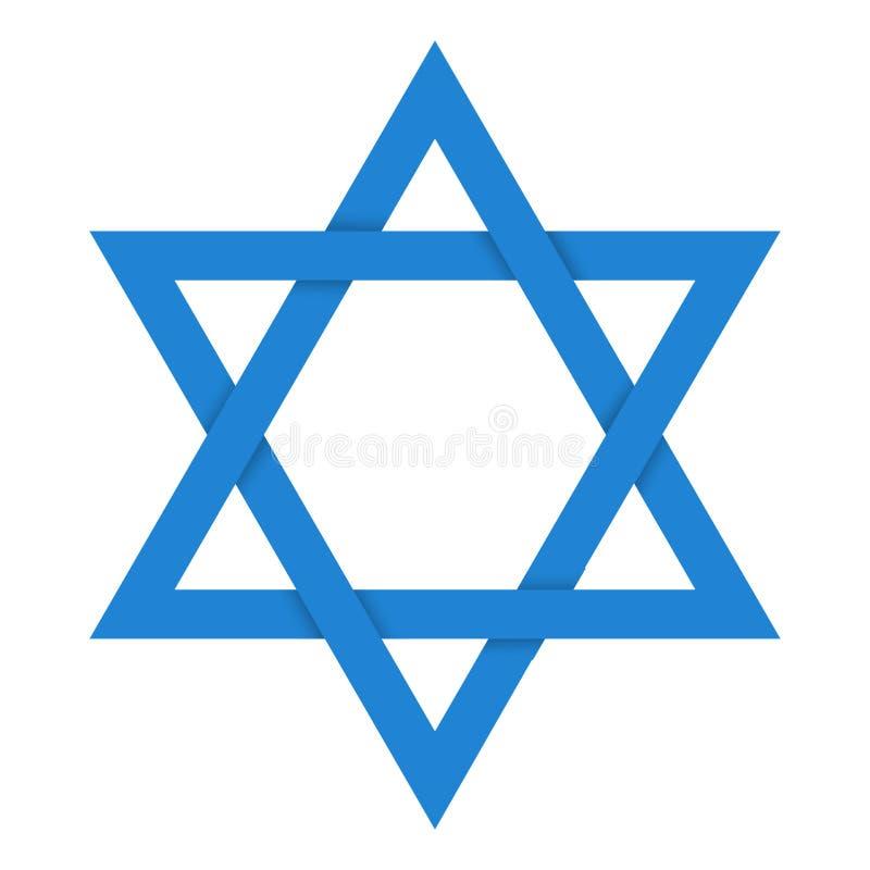blå david stjärna också vektor för coreldrawillustration vektor illustrationer