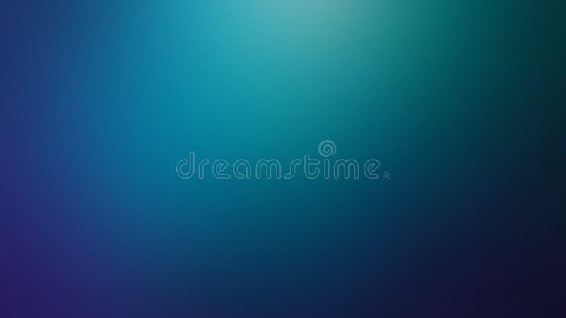 Blå Defocused suddig rörelseabstrakt begreppbakgrund som är widescreen royaltyfri illustrationer