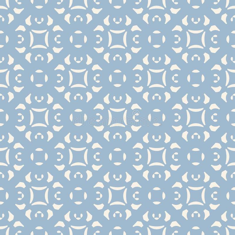 Blå dekorativ blom- sömlös modell Geometrisk bakgrund i damast stil stock illustrationer