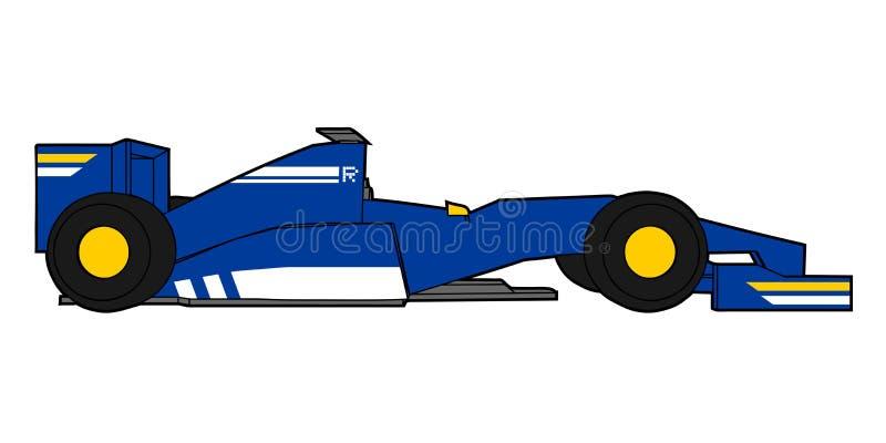 Blå design för tävlings- bil royaltyfri illustrationer
