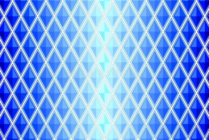 Blå diamant formad fyrkant stock illustrationer