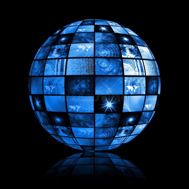 blå digital futuristic tv för bakgrund royaltyfri illustrationer