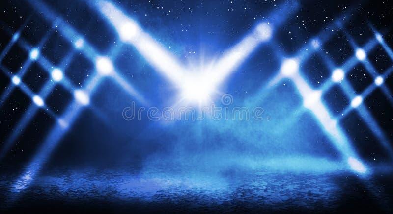 Blå dimmig mörk bakgrund arkivbild