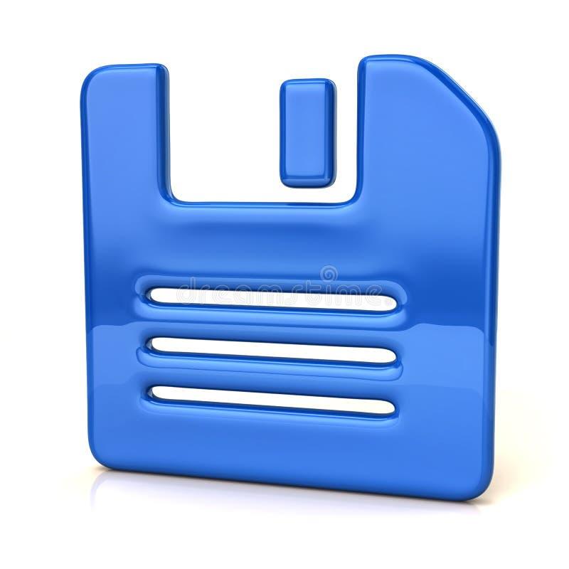 Blå diskettsymbol stock illustrationer