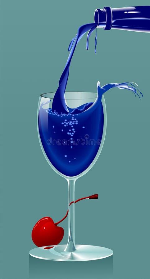 blå drink vektor illustrationer