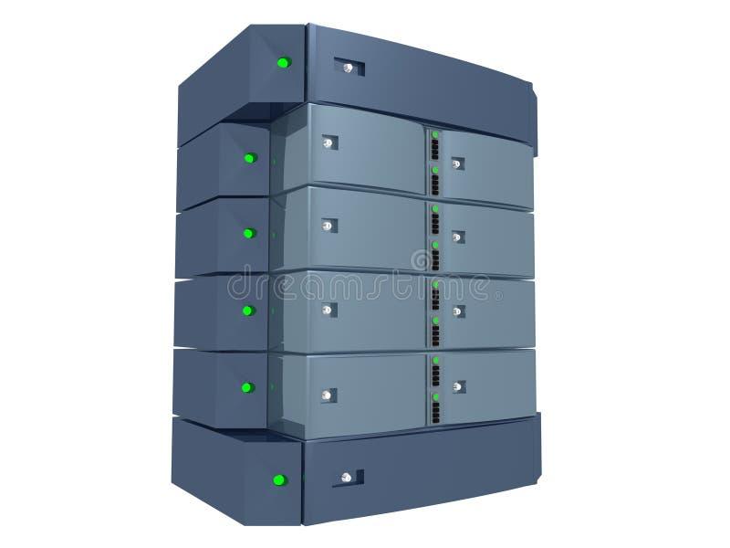 blå dubbelljus server stock illustrationer