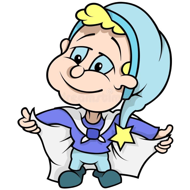 Blå dvärg royaltyfri illustrationer