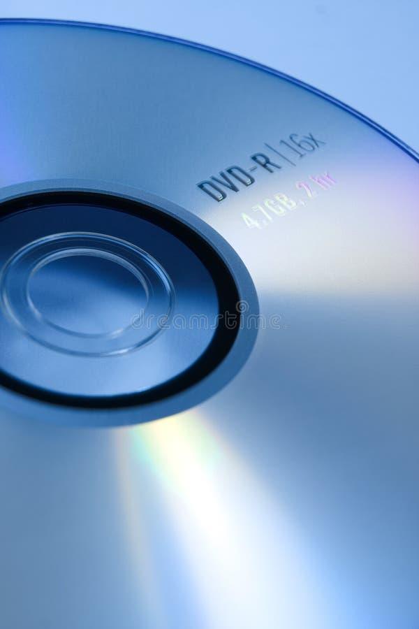 blå dvd arkivbild