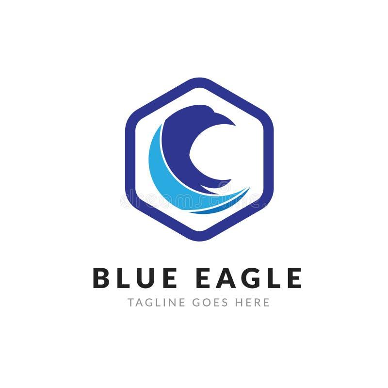Blå Eagle Logo mall arkivfoto