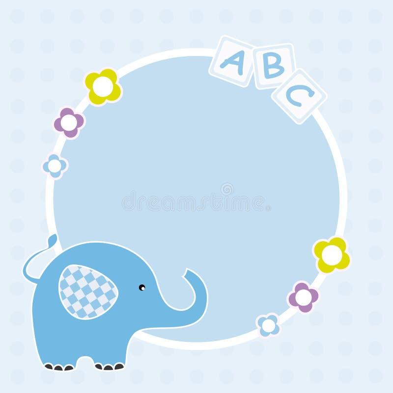 Download Blå elefantram vektor illustrationer. Illustration av post - 19789460