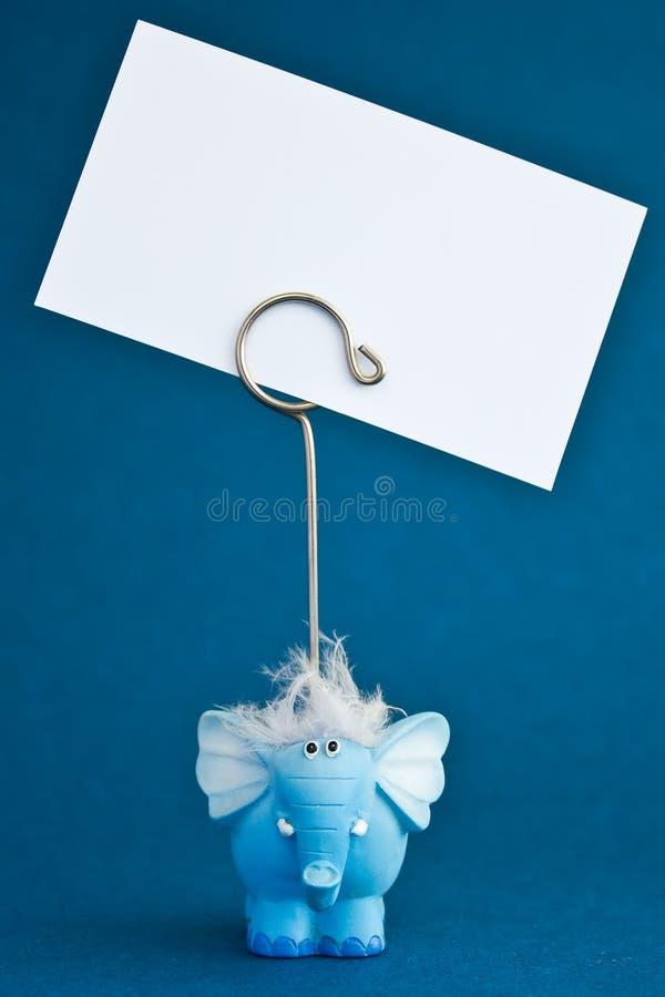 blå elephant2 royaltyfri bild