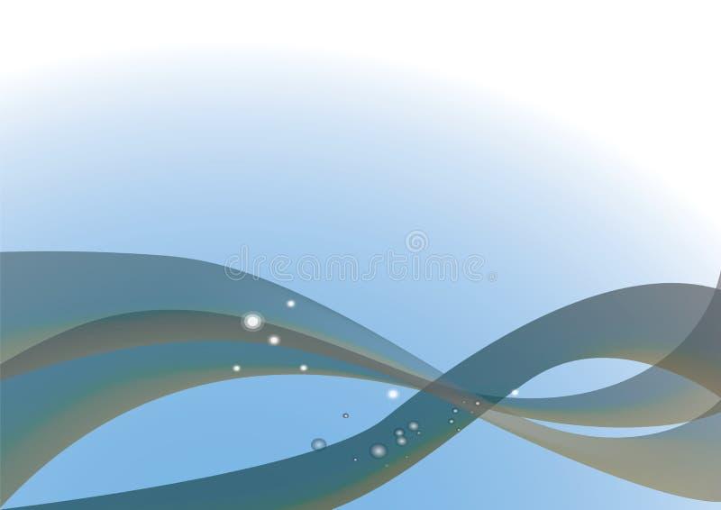 Blå energibakgrund royaltyfri illustrationer