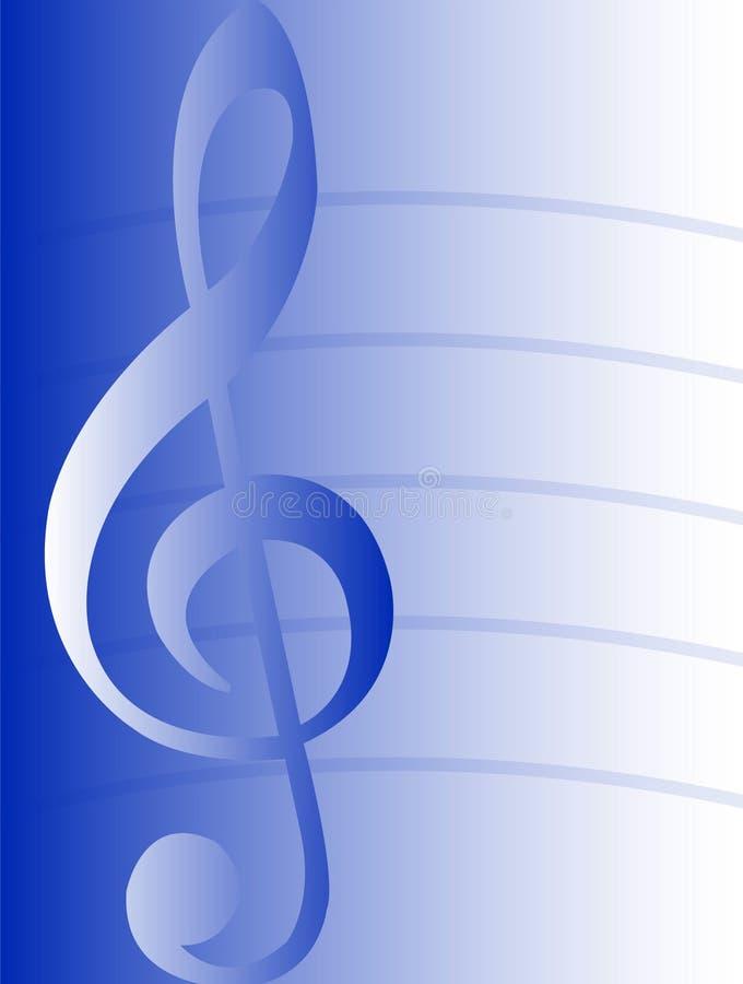 blå eps-musikal för bakgrund vektor illustrationer